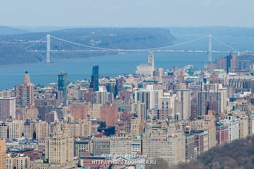 Upper Manhattan buildings and Washington bridge