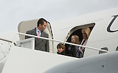 Members of the Trump Family depart the aircraft carrying President-elect of The United States Donald Trump arrives Joint Base Andrews in Maryland January 19, 2017the day before his swearing in as 45th President of The United States. <br /> Credit: Chris Kleponis / Pool via CNP