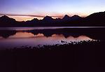 Sunrise over Mountains in Glacier National Park