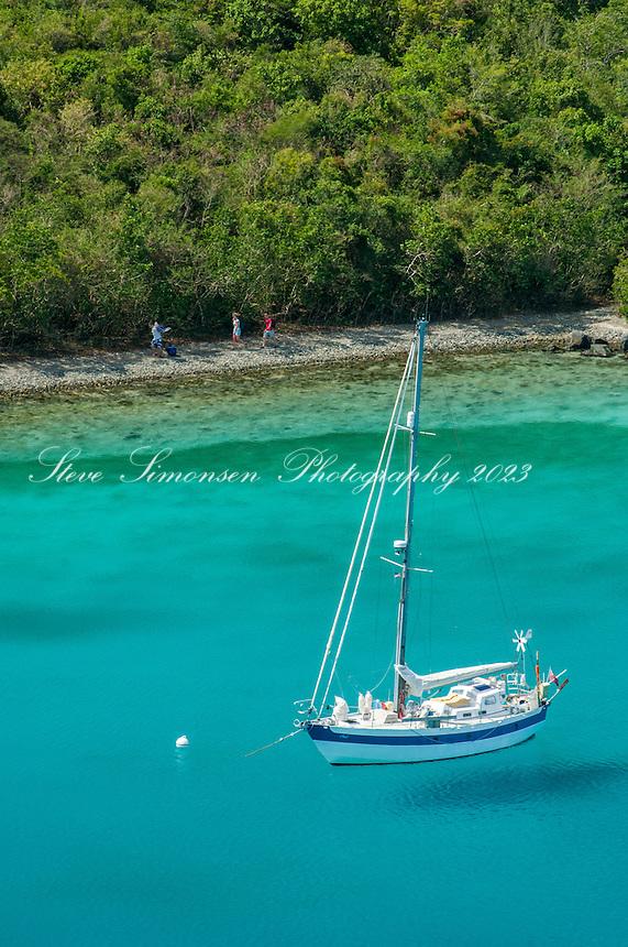 Leinster Bay viewed from the Johnny Horn Trail <br /> Virgin Islands National Park<br /> St John USVI