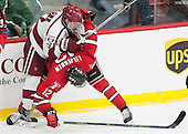 Sean Malone (Harvard - 17), Viktor Liljegren (RPI - 12) - The Harvard University Crimson defeated the visiting Rensselaer Polytechnic Institute Engineers 5-2 in game 1 of their ECAC quarterfinal series on Friday, March 11, 2016, at Bright-Landry Hockey Center in Boston, Massachusetts.