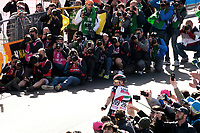 ITALIA. 09-05-2017. Jan Polanc -SLO- (UAE Team Emirates) celebra como ganador de la etapa 4 entre Cefalu' a Etna con 181 kms de la versi&oacute;n 100 del Giro de Italia hoy 09 de mayo de 2017. / Jan Polanc -SLO- (UAE Team Emirates) celebrates as stage 4 winner between Cefalu' to Etna with 181 kms of the 100 version of the Giro d'Italia today 09 May 2017 Photo: VizzorImage/  Massimo Paolone / LaPresse<br /> VizzorImage PROVIDES THE ACCESS TO THIS PHOTOGRAPH ONLY AS A PRESS AND EDITORIAL SERVICE AND NOT IS THE OWNER OF COPYRIGHT; ANOTHER USE HAVE ADDITIONAL PERMITS AND IS  REPONSABILITY OF THE END USER