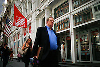 New York, USA. 19 August 2014. People pass by a  Home Depot store at 23rd street while Home Depot company prepares its Quarterly results at the Stock Exchange in New York.  Eduardo Muñoz Alvarez/VIEWpress