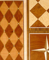 Marquetry detail on a piece of furniture designed by David Linley