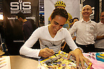 Alberto Contador at the Earls Court Cycle Show. <br />