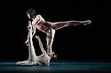 The Mikhailovsky Ballet presents a triple bill of WITHOUT WORDS, PRELUDE and NUNC DIMITTIS, at the London Coliseum. This picture is of WITHOUT WORDS, which is danced by Irina Kosheleva, Leonid Sarafanov, Ekaterina Borchenko, Mikhail Sivakov, Valeria Zapasnikova, Pavel Vinogradov, Maria Dmitriyenko, Andrey Lapshanov.