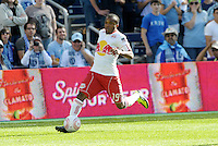 Red Bull midfielder Dane Richards (19) in action...Sporting Kansas City defeated New York Red Bulls 2-0 at LIVESTRONG Sporting Park, Kansas City, Kansas.