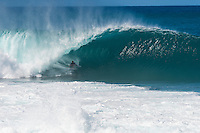 PIPELINE, Oahu/Hawaii (Saturday, December 14, 2013) John John Florence (HAW) Triple Crown Champion. - Kelly Slater (USA), 41, has won his 7th Billabong Pipe Masters in Memory of Andy Irons after a day of incredible 10-to-15 foot (three to four metre) waves at Pipeline today. Slater defeated John John Florence (HAW), 21, in a hard-fought, 35-minute Final that ended with less than half-a-point separating the two. The runner-up finish for Florence saw him crowned 2013 Vans Triple Crown of Surfing champion.<br /> <br /> The final day of the Billabong Pipe Masters capped off the 2013 ASP World Championship Tour (WCT) season in fine style, with epic conditions providing the ideal backdrop for the crowning of Mick Fanning (AUS), 32, as the ASP World Champion. It also finalized the ASP Top 34 roster for 2014. Fanning finished third overall, defeated by Florence in their Semifinal.<br /> With tens of thousands packing the beach at Pipeline, and the gravitas of Slater&rsquo;s 56th elite tour victory apparent, the greatest athlete the sport has ever produced was emotional on the final day of 2013.<br /> <br /> Fanning&rsquo;s road to the 2013 ASP World Title was nothing short of spectacular on the final day of competition. Finding himself behind during both his Round 5 and Quarterfinals bouts, the iron-nerved Australian nailed huge Pipeline scores in both occasions to take the heat wins and his third world surfing crown.<br /> <br /> &ldquo;I&rsquo;ve never put myself in the same circles as Tom Curren and Andy Irons,&rdquo; Fanning said. &ldquo;Tom (Curren) is such an enigma and was so instrumental to injecting style into our sport. Andy (Irons)&hellip;what hasn&rsquo;t been said about Andy? He was such a legend and he was such a good friend. I&rsquo;m honored to be a part of this group. I was happy with one title and I was overwhelmed with two. With three? I don&rsquo;t have words for that.&rdquo;<br /> <br /> Today marked John John Florence&rsquo;s second Vans Triple Crown Title, but his runner-up in the final event forces him to hang on to his life-long dream of one day hois