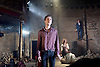 Carmen Disruption <br /> at Almeida Theatre, London, Great Britain <br /> press photocall<br /> 16th April 2015 <br /> <br /> Jack Farthing as Carmen <br /> Viktoria Vizin as The Chorus <br /> <br /> <br /> Photograph by Elliott Franks <br /> Image licensed to Elliott Franks Photography Services