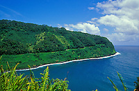 Hugging the tropical north and east shores of Maui, the Hana Highway drive consists of an all-day adventure navigating 54 one-lane bridges and 617 turns to arrive at Maui's far eastern   town of Hana. A popular drive.