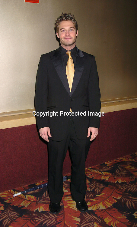 Brock Cuchna ..at the All My Children Christmas party at the Copacabana  on December 17, 2003. Photo by Robin Platzer, Twin Images.
