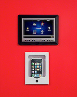 iPod Dock And Control 4 Touch Panel