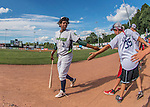 31 July 2016: Vermont Lake Monsters infielder Eric Marinez greets fans prior to a Single-A minor league baseball game against the Connecticut Tigers at Centennial Field in Burlington, Vermont. The Lake Monsters edged out the Tigers 4-3 in NY Penn League action.  Mandatory Credit: Ed Wolfstein Photo *** RAW (NEF) Image File Available ***