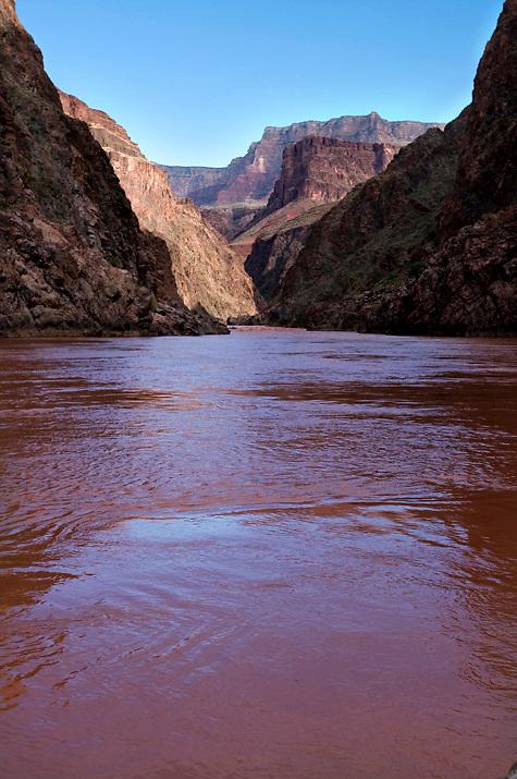 The Colorado River near Grapevine Rapid in Grand Canyon.
