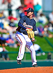 3 March 2010: Atlanta Braves' pitcher Jonny Venters in action during a Grapefruit League game against the New York Mets at Champion Stadium in the ESPN Wide World of Sports Complex in Orlando, Florida. The Braves defeated the Mets 9-5 in the Spring Training matchup. Mandatory Credit: Ed Wolfstein Photo