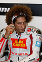 July 24, 2010 - Laguna Seca, USA -San Carlo Honda Gresini team's Marco Simoncelli is at a press conference prior to the U.S. Grand Prix held on July 25, 2010. (Photo Andrew Northcott/Nippon News)