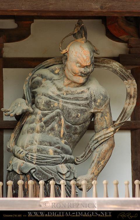 Horyuji Nio, Benevolent King, Ungyoh, Japan's Oldest Kongo Rikishi Guardians 711 AD, Chumon Gate, Horyuji, Nara, Japan