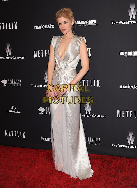 Kate Mara attends THE WEINSTEIN COMPANY &amp; NETFLIX 2014 GOLDEN GLOBES AFTER-PARTY held at The Beverly Hilton Hotel in Beverly Hills, California on January 12,2014                                                                               <br /> CAP/DVS<br /> &copy;DVS/Capital Pictures