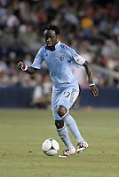 Kei Kamara (23) forward Sporting KC in action..Sporting Kansas City and New England Revolution played to a 0-0 tie at LIVESTRONG Sporting Park, Kansas City, KS.