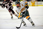 23 January 2009: University of Vermont Catamount forward and Team Captain Dean Strong, a Senior from Mississauga, Ontario, in action against the University of Massachusetts Minutemen during the first game of a weekend series at Gutterson Fieldhouse in Burlington, Vermont. The Catamounts defeated the visiting Minutemen 2-1. Mandatory Photo Credit: Ed Wolfstein Photo
