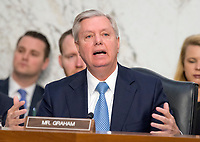 United States Senator Lindsey Graham (Republican of South Carolina) questions Judge Neil Gorsuch as he testifies before the United States Senate Judiciary Committee on his nomination as Associate Justice of the US Supreme Court to replace the late Justice Antonin Scalia on Capitol Hill in Washington, DC on Tuesday, March 21, 2017.<br /> Credit: Ron Sachs / CNP /MediaPunch