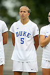 30 August 2015: Duke's Rebecca Quinn (CAN). The Duke University Blue Devils hosted the William & Mary University Tribe at Koskinen Stadium in Durham, NC in a 2015 NCAA Division I Women's Soccer game. Duke won the game 2-0.