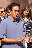 AJ Alexander - Luis Avila (cq) with Somos America speaks at the Boycott Press Confrence at the Arizona State Capitol on Friday March 18, 2011..Photo by AJ Alexander .Photo by AJ Alexander.All Rights Reserved
