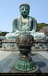 Kamakura Daibutsu and Brazier, Great Buddha of Kamakura, Amida Nyorai, Kotoku-in, Kamakura, Japan
