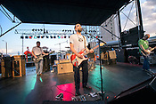 September 7, 2012. Raleigh, NC. Built to Spill performs at the Raleigh City Plaza as part of the 2012 Hopscotch Music Festival in Raleigh, NC.