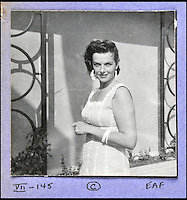 BNPS.co.uk (01202 558833)<br /> Pic: DominicWinter/BNPS<br /> <br /> Jane Russell.<br /> <br /> A remarkable set of 430 candid photographs of Hollywood royalty have been unearthed after 50 years.<br /> <br /> Included in the collection of unpublished pictures are snaps of silver screen icons Paul Newman, Charlie Chaplin, Bette Davis, Audrey Hepburn, and Dean Martin.<br /> <br /> Paul Newman is captured looking over his shoulder at the wheel of his car and Charlie Chaplin is pictured without his trademark moustache. <br /> <br /> Audrey Hepburn has posed with her then husband actor Mel Ferrer while Bette Davis can be seen puffing on a cigarette.<br /> <br /> The snaps were taken by obsessive amateur photographer Dwight 'Dodo' Romero from 1954 to 1967 who would hang around at Hollywood parking lots and other hang-outs to catch a glimpse of the stars.<br /> <br /> The photos, which more recently belonged to a book dealership in York, have emerged for auction and are tipped to sell for &pound;800.