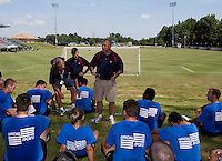 Referee Training. 2009 US Soccer Development Academy Summer Showcase at Bryan Park Soccer Complex in Browns Summit, North Carolina, on June 28, 2009.