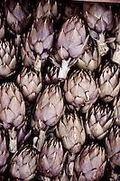 Carciofi or artichokes, Al Capo markets, Palermo, Sicily, Italy