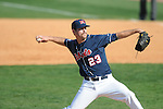 Ole Miss' Eric Callender (23) pitches at Oxford-University Stadium in Oxford, Miss. on Sunday, March 20, 2011. Alabama won 6-4.