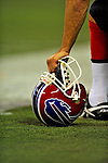 7 December 2008: Buffalo Bills place kicker Rian Lindell holds his helmet on the sidelines in the first regular season NFL game ever played in Canada. The Miami Dolphins defeated the Bills 16-3 at the Rogers Centre in Toronto, Ontario. ..Mandatory Photo Credit: Ed Wolfstein Photo