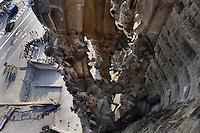 Immaculate Conception, Faith hallway, Nativity façade, La Sagrada Familia, Roman Catholic basilica, Barcelona, Catalonia, Spain, built by Antoni Gaudí (Reus 1852 ? Barcelona 1926) from 1883 to his death. Still incomplete Picture by Manuel Cohen
