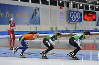 SCHAATSEN: SALT LAKE CITY: Utah Olympic Oval, 12-11-2013, Essent ISU World Cup, training, Antoinette de Jong, Linda de Vries, Ireen Wüst, ©foto Martin de Jong