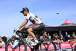 Jose Mendes (POR) Bora-Hansgrohe at sign on before Stage 1 of the 100th edition of the Giro d'Italia 2017, running 206km from Alghero to Olbia, Sardinia, Italy. 4th May 2017.<br /> Picture: Ann Clarke | Cyclefile<br /> <br /> <br /> All photos usage must carry mandatory copyright credit (&copy; Cyclefile | Ann Clarke)