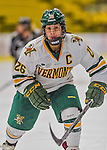 1 February 2015: University of Vermont Catamount Defender Sarah Campbell, a Senior from Saratoga Springs, NY, in second period action against the visiting Providence College Friars at Gutterson Fieldhouse in Burlington, Vermont. The Lady Cats defeated the Friars 7-3 in Hockey East play. Mandatory Credit: Ed Wolfstein Photo *** RAW (NEF) Image File Available ***
