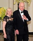 United States Senator Patrick Leahy (Democrat of Vermont) and Marcelle Leahy arrive for the State Dinner in honor of Prime Minister Trudeau and Mrs. Sophie Gr&eacute;goire Trudeau of Canada at the White House in Washington, DC on Thursday, March 10, 2016.<br /> Credit: Ron Sachs / Pool via CNP