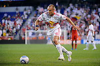 Joel Lindpere (20) of the New York Red Bulls. The New York Red Bulls defeated Toronto FC 5-0 during a Major League Soccer (MLS) match at Red Bull Arena in Harrison, NJ, on July 06, 2011.
