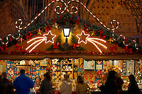 Christmas market at dusk - Strasbourg France