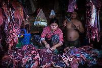 Vendors at the famous Russian Market in Phnom Penh, Cambodia