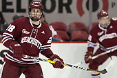 Jake McLaughlin (UMass - 28) - The Boston University Terriers defeated the University of Massachusetts Minutemen 3-1 on Friday, February 3, 2017, at Agganis Arena in Boston, Massachusetts.The Boston University Terriers defeated the visiting University of Massachusetts Amherst Minutemen 3-1 on Friday, February 3, 2017, at Agganis Arena in Boston, MA.