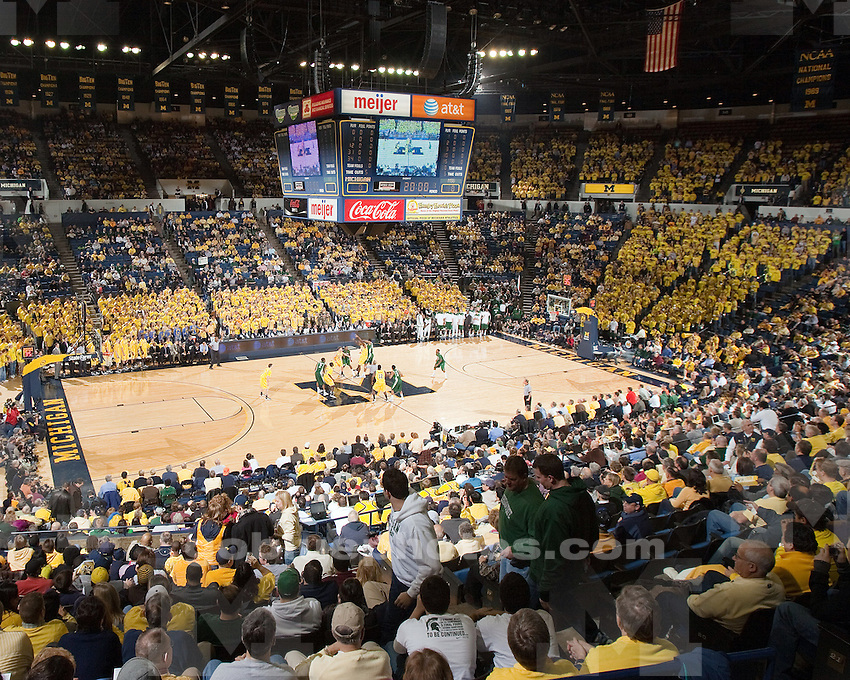 University of Michigan men's basketball vs. Michigan State at Crisler Arena on /26/10.