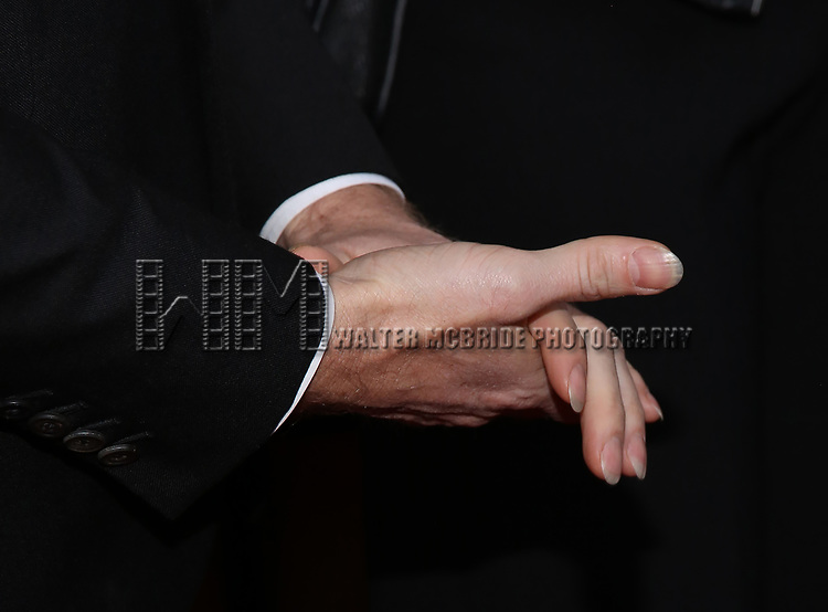 Neil Patrick Harris, hand and nail detail, attends the Opening Night 'In & Of Itself' at the Daryl Roth Theatre on April 12, 2017 in New York City