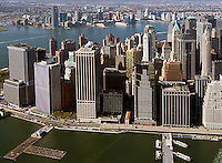 aerial photograph downtown Manhattan, New York City