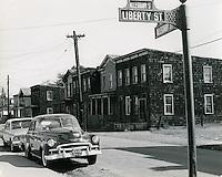 1966 October 21..Historical..Looking down Alleghany Street from corner of Liberty Street and Alleghany Street..Sam McKay.NEG# SLM66-9-18.NRHA# 4221..