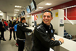 St Johnstone v Eskisehirspor....18.07.12  Uefa Cup Qualifyer.Gary Millar at the check in desk at Edinburgh Airport.Picture by Graeme Hart..Copyright Perthshire Picture Agency.Tel: 01738 623350  Mobile: 07990 594431