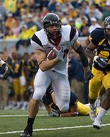 Cincinnati tight end Connor Barwin scores on a 28-yard touchdown reception.  The West Virginia Mountaineers defeated the Cincinnati Bearcats 42-24 on November 11, 2006 at Mountaineer Field, Morgantown, West Virginia..