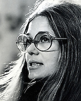 Gloria Steinem, feminist movement. 1974<br />